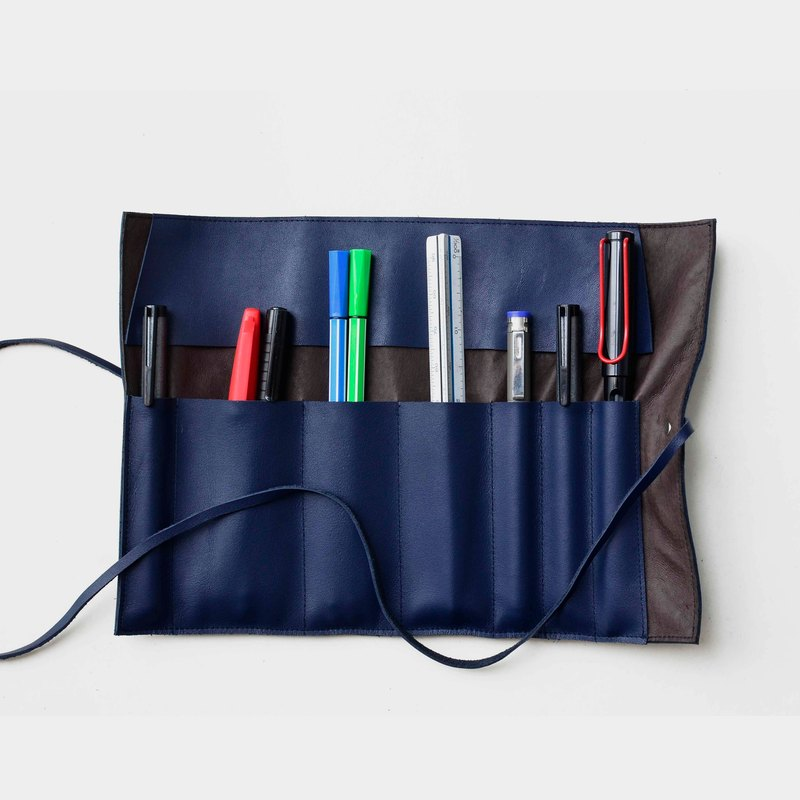 [Seaweed sushi] leather pencil bag leather pencil box tool bag pen pen scroll graduation gift guest carved letter when the gift father section Father's Day