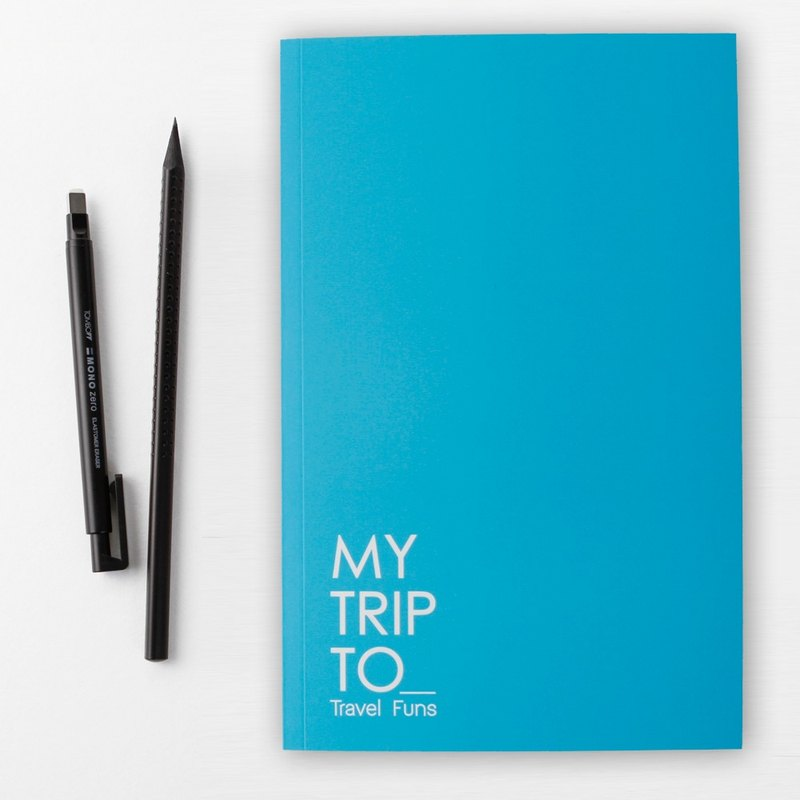 [Travel Funs] Step-by step Planning Travel Notebook (Blue)
