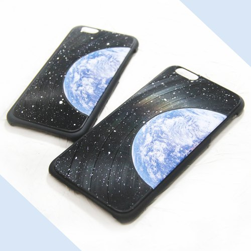 iPhone 6 / 6S Plus Phone Case Earth Vinyl Record 【HIRAETH Collection 】(Engraving Service)