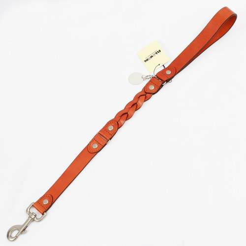 Ella Wang Design stitching leather series 60cm short leash - orange