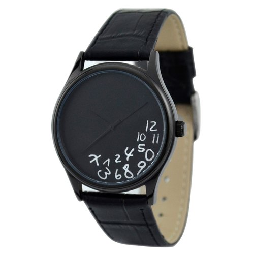 Crazy digital watch (black) black shell