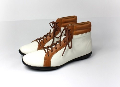 INDOOR white brown casual shoes-in-tube │