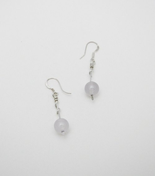 The light series。Silver Earring #11