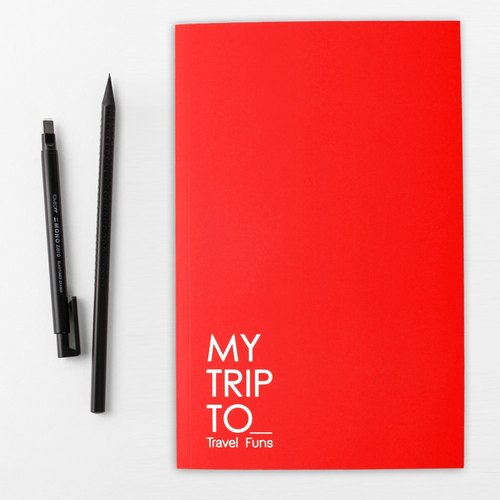 [Travel Funs] Step-by step Planning Travel Notebook (Red)