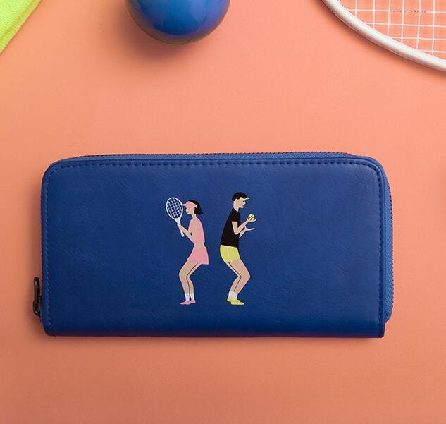 KO MESHOP Couple Series Long Wallet Wallet