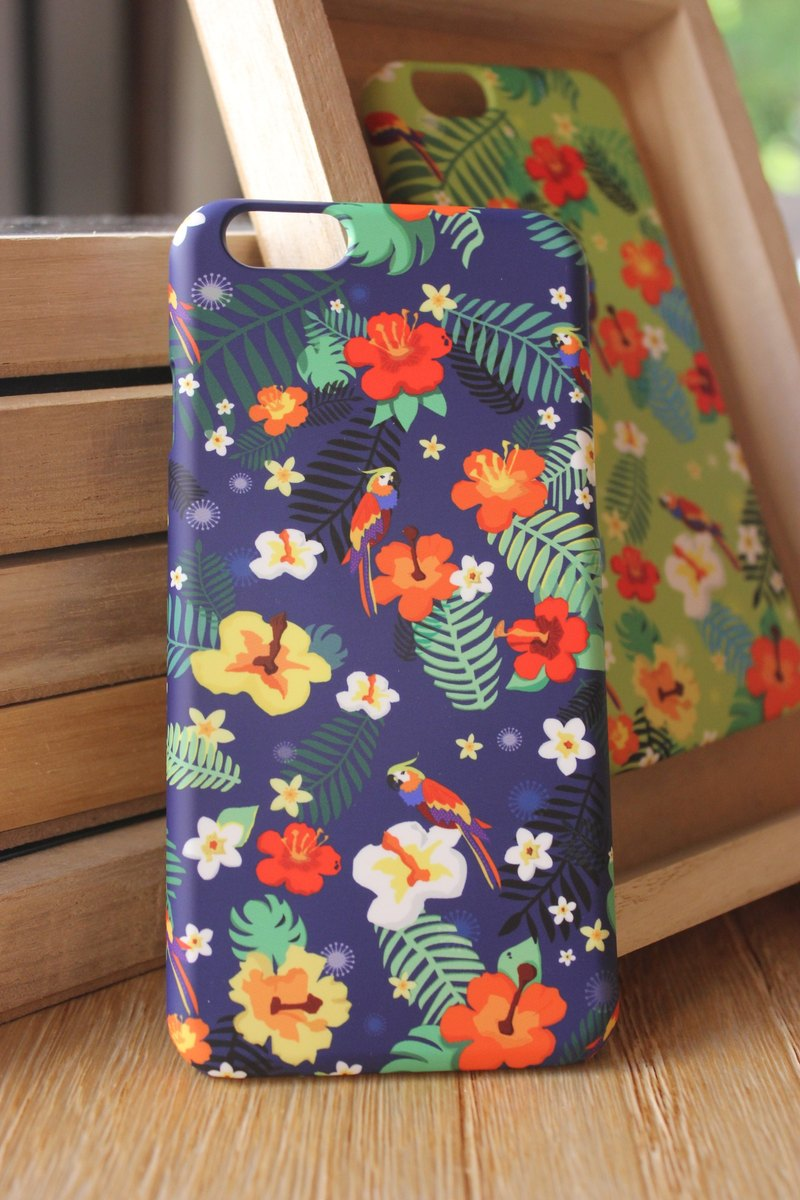 Korea style top anti-wear paint painted phone protective shell [summer style / Blue Hawaii Hawaii] Korea Design Hall Customizable Model iPhone: i6s / i6s plus + / i6 / i6 plus / i5 / Samsung Samsung: S6 Edge + plus / S6 / S6 Edge / S5 / Note5 / Note4 / Not