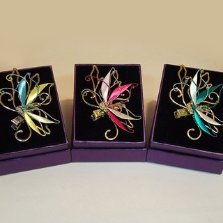 [Mrs.U silk Tibetan honey] dance butterfly - wrapped flower pin / only