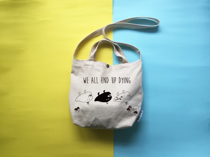 DYING | lunch canvas shoulder portable small objects