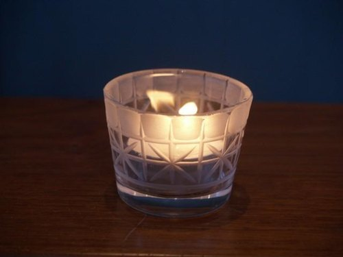 KIRIKO candle holder grid flower + above kamaboko