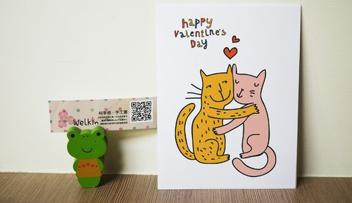 ☆ ° ° Rococo strawberry WELKIN Hands in love _ handmade postcard - cat