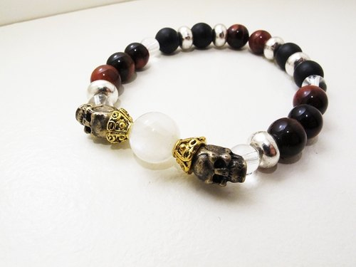 Royal tiara red tiger eye blue crystal ore bracelet
