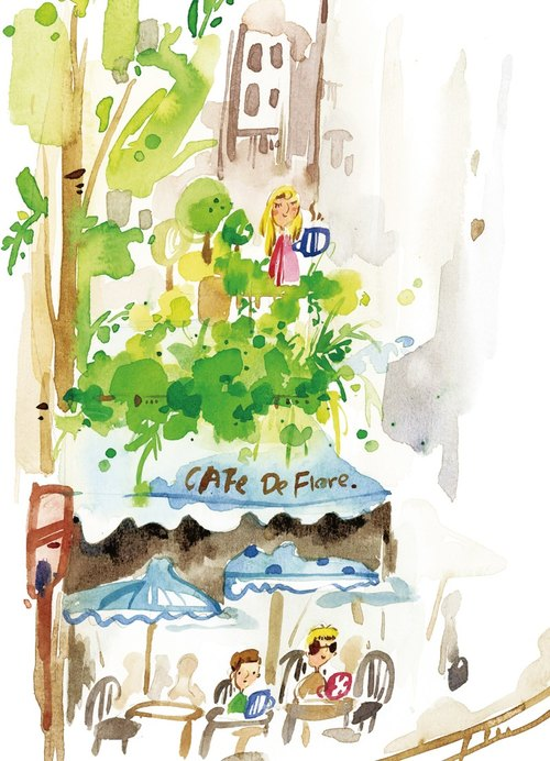 French Café de Flore Postcard