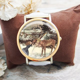 Girl and Elk - Women's Watch / Men's Watch / Neutral Table / Accessories [Special U Design]