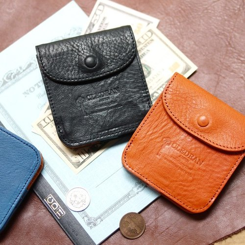 [Out of print] Japanese products Limited Offer interesting street leather folding wallet two fold wallet short clip Made in Japan by CLEDRAN
