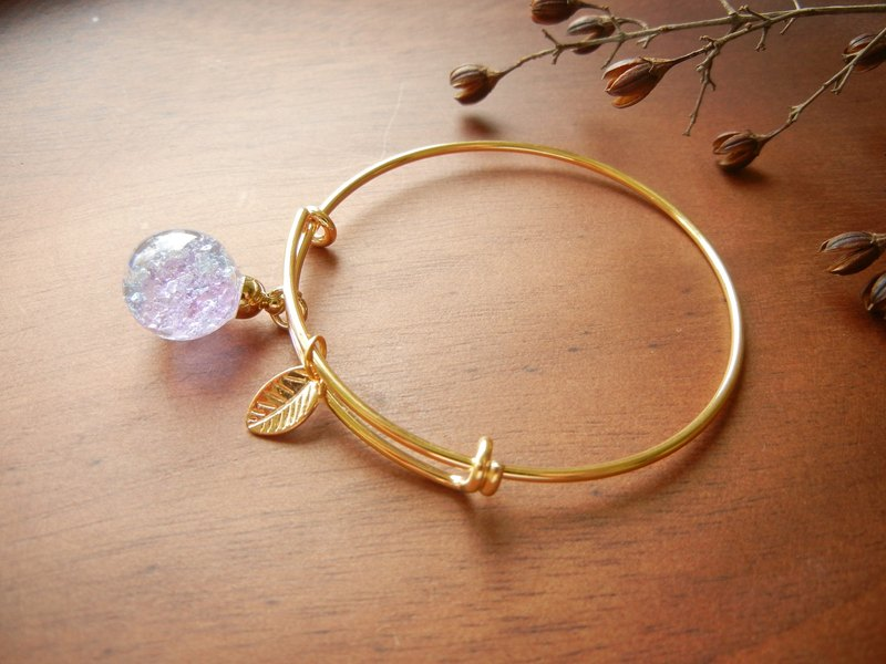 *coucoubird*rose gold crushed ice blue purple bracelet