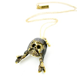 Zodiac pendant Virgin skull is for Virgo