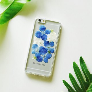 Pressed Flowers Phone Cases - Blue Hydrangea Collection for iphone 5/5s/SE/6/6s/6 plus/6s plus/7/7plus/Samsung S4/S5/S6/S6Edge/S7/S7Edge/Note3/Note4/Note5
