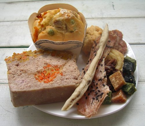 Birthday meal birthday dog ​​food [] - Pet cake + French meat aspic + manual + pet biscuits