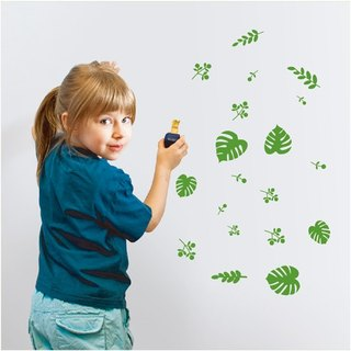 """Smart Design"" Creative Seamless wall stickers leaves 8 color options"