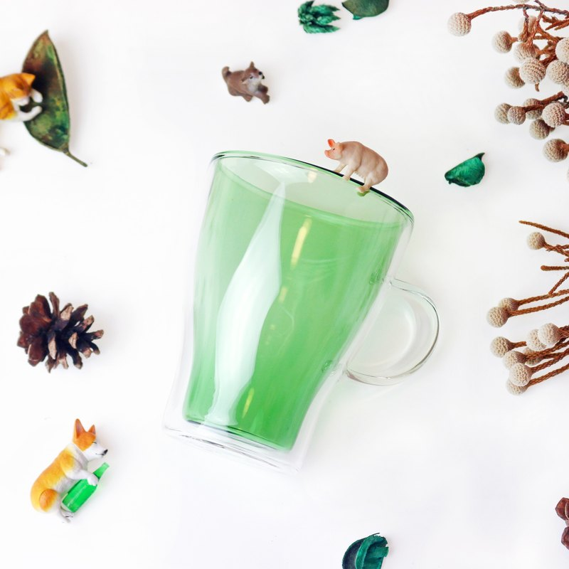 [GOODGLAS] Dance Color Double Glass - Green