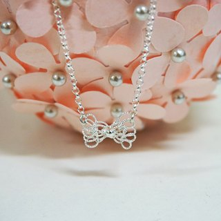 Silver Ring - lace bow (Necklace / Necklace) / handmade limited production
