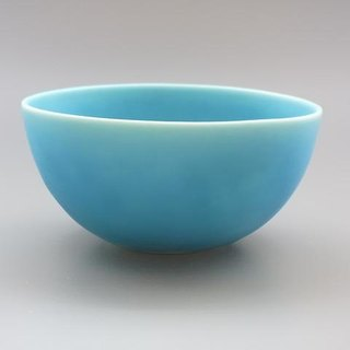 coco#1 turquoise porcelain small salad bowl