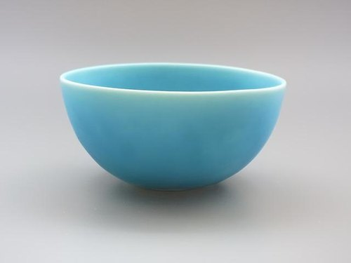 coco#1 turquoise (porcelain small salad bowl)