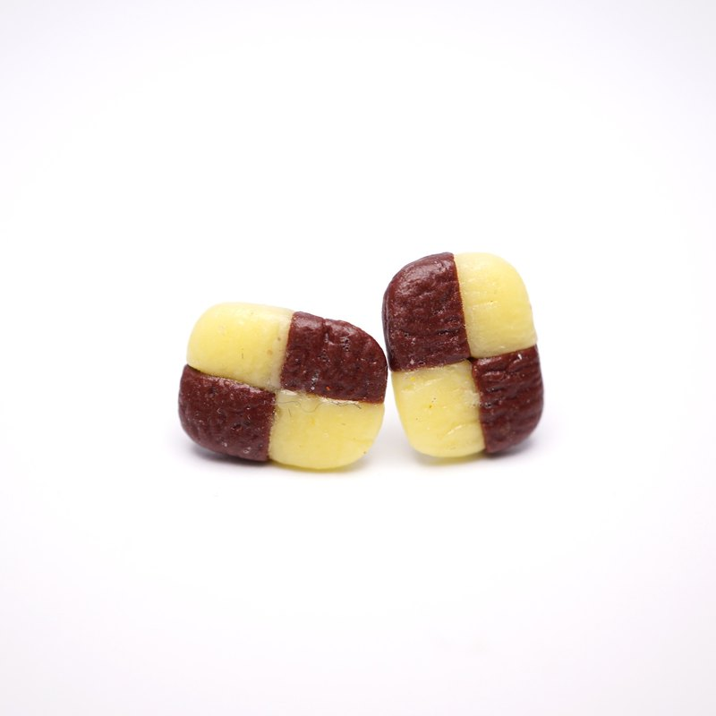 *Playful Design*  Checker Cookie Earrings