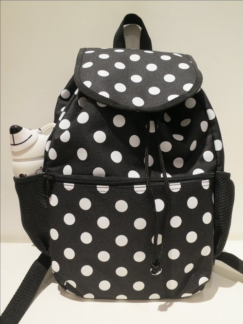 TiDi latest fashion little black and white backpack
