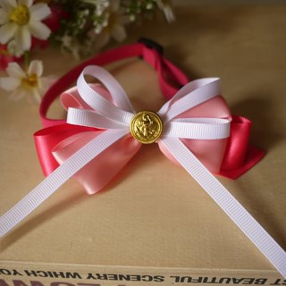 Safety x pet collar pink vibrant paragraph cats and dogs / Collar / tie / Jojo ♥ cherry pudding Cherry Pudding ♥