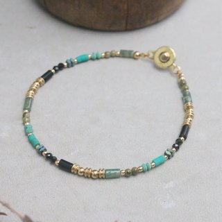 Turkey stone spinel natural stone brass bracelet (0725 travel to)
