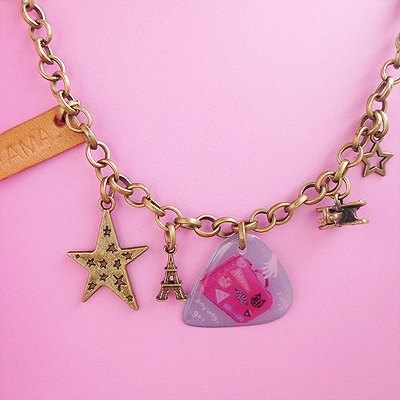 FaMa‧s Pick guitar shrapnel - fly! C'est la vie Leather Charm Bracelet +