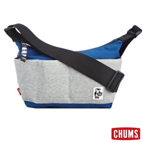 CHUMS Japan Sweat Nylon multi-pocket styling dorsal / oblique backpack II generation gray / blue
