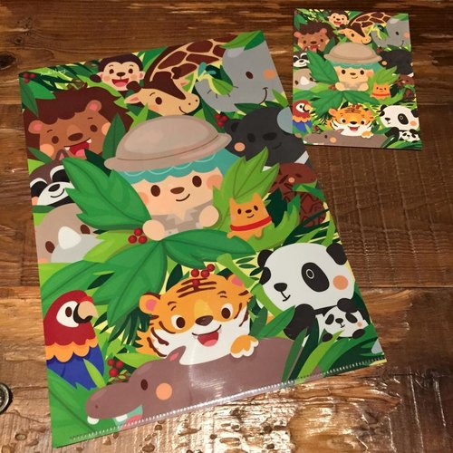 Jungle folder postcard set