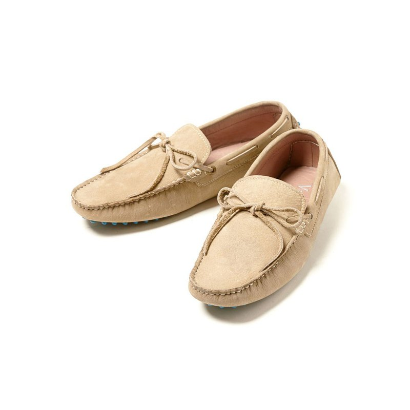 Vanger elegant beauty ‧ light travel life blue beans beans Loafers Va133 matte rice