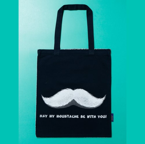Christmas Limited ◎ ◎ [willing] beard with you hand-printed silk shoulder bag / handbag