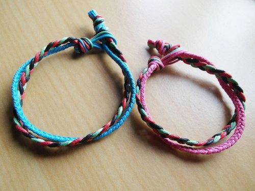 Jump color winding / hand-woven bracelet