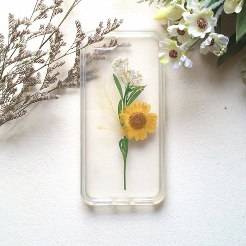 :: Hand for a single show pressedflower Phone Case