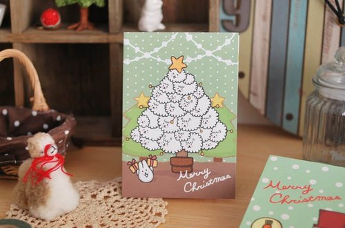 *Mori Shu*Christmas / Bubble Sheep Christmas cards (including envelopes, leaflets)