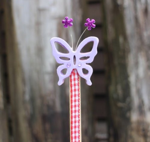 Hand-made double-sided bookmark butterfly (1 Group 2)