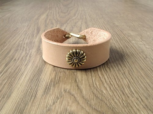 ROCK x ride Shifeng all handmade leather bracelet x brass large patterns (color)