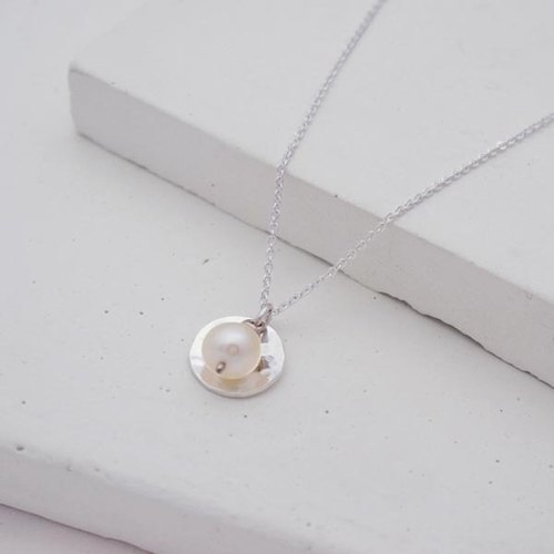 Handmade pearl necklace sterling silver necklace