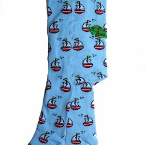2014 autumn and winter Slugs & amp; Snail blue sailboat organic cotton tights