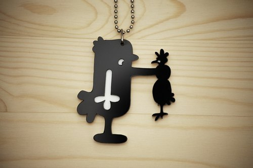 【Peej】'Why you…' Double layered Acrylic key chains/necklaces