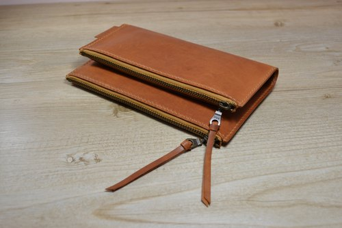 【kuo's artwork】 Hand stitched leather Pouch / bags