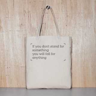 Stand for you or believe in Stand or Fall original canvas tote