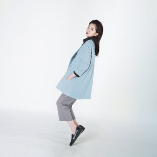 Zita Collarless Wool Coat