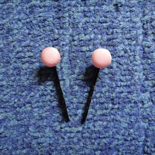 (C) _ another on Peach cloth buttons small hairpin C20ASZ22