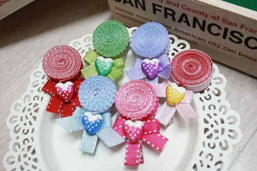 Sweet heart lollipop hairpin