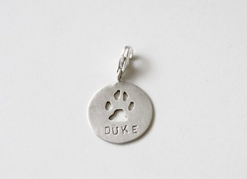 Pet Cats and Dogs Footprints Silver Tag・Customized Product